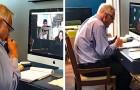 Questo professore di 91 anni affronta la didattica a distanza con tutto l'entusiasmo della prima volta