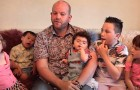 This 35-year-old single man is a real super-dad: he has adopted 5 disabled children and raises them alone