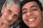 Un ragazzo salva un'anziana donna che viveva in miseria tra i rifiuti e i ratti