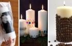 13 spunti strepitosi per decorare le candele in modo creativo ed elegante