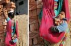 Une mère porte six briques sur la tête en tenant son fils de quelques mois : une photo qui laisse songeur