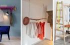 10 angoli guardaroba a giorno belli ed efficienti da realizzare con il legno