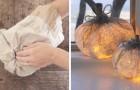 Comment réaliser une très belle lanterne en forme de citrouille en recyclant des sacs en papier ?