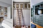 10 idées pratiques et merveilleuses pour insérer des armoires murales dans la déco de la maison