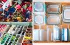 Hoe je objecten in huis op een voldoening gevende manier kunt rangschikken: 20 foto's om inspiratie op te doen om je leven opnieuw in te richten