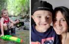 Com pouco menos de 2 anos, ele foi agredido por dois cães que feriram gravemente o seu rosto: agora as outras crianças o chamam de