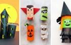 10 strepitosi lavoretti di Halloween da realizzare riciclando i rotoli di carta igienica
