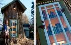 Salva un vecchio albero che doveva essere abbattuto e ci costruisce dentro una piccola biblioteca per l'infanzia