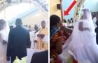 Ehefrau überrascht ihren Mann am Altar mit einer anderen Frau: die surreale, von einem der Eingeladenen aufgenommene Szene