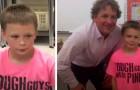 In der Schule gemobbt, weil er ein rosa T-Shirt trägt: Der Lehrer kommt mit einem Hemd derselben Farbe