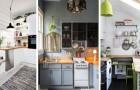 18 ottime combinazioni per arredare con gusto e praticità anche le cucine più piccole