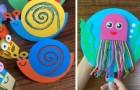 8 animaletti di carta coloratissimi per far divertire i bimbi in modo creativo