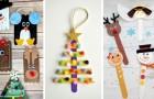 13 idee deliziose per lavoretti di Natale da realizzare con i bimbi usando gli stecchi del gelato