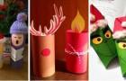 12 lavoretti di Natale facili e colorati da realizzare con i rotoli di carta igienica