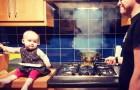 Questo papà invia ai parenti foto in cui la figlia è sempre in pericolo: ma sono solo geniali fotomontaggi