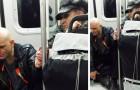 Un homme agressif monte dans le métro et fait fuir tous les passagers : une vieille dame parvient à le calmer d'un simple geste