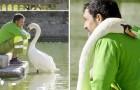 En trädgårdsmästare blir en ensam svans bästa vän och tar hand om honom samt ser till att han får mat varje dag