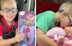 A child asks his mother to buy him a doll to look after because