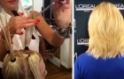 Gör-det-själv klippning - en salong delar en enkel och bisarr teknik för att klippa håret