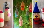 12 travaux de Noël à réaliser avec les tubes en carton du papier toilette