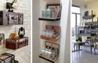 11 solutions brillantes pour recycler de vieux objets et les transformer en d'originales étagères DIY