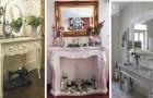 10 idées charmantes pour décorer l'entrée de la maison dans un style shabby-chic