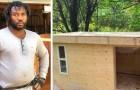 """Ein junger Tischler baut warme und resistente Häuschen für die Obdachlosen: """"Ich verhindere, dass sie im Winter vor Kälte sterben"""""""