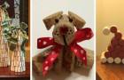 10 decorazioni di Natale super creative per riciclare i tappi di sughero