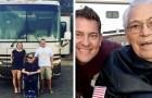 Un nipote porta il nonno di 95 anni in viaggio con il camper invece di chiuderlo in una casa di riposo