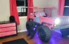 Un papà costruisce con le sue mani un adorabile letto a forma di Jeep per la figlioletta
