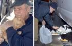 Een 76-jarige man voedt zwerfkatjes in zijn buurt door de hele dag schroot te verkopen