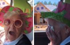 A grandson reveals to his grandmother that they will move in together in a new home and she bursts into tears of happiness