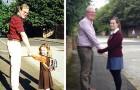 En mycket stolt pappa återskapade samma bild med sin dotter under tre olika stunder i livet