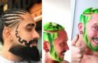 21 pessoas que decidiram pedir aos seus cabeleireiros cortes de cabelo muito bizarros