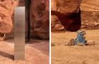 Use, der in der Wüste gefundene Metallmonolith ist auf mysteriöse Weise verschwunden: Jetzt gibt es eine Pyramide in der Wüste