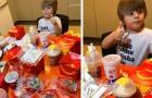En 4-årig pojke hittar sin mammas telefon och beställer mat för 100 dollar från McDonald's