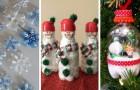 11 progetti creativi per riciclare bottiglie di plastica e ricavarne originali decorazioni natalizie