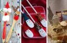 11 proposte piene di fantasia per trasformare mestoli e cucchiai di legno in simpatiche decorazioni di Natale