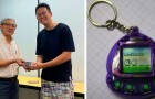 A teacher confiscates a video game from a student during class and returns it to him 21 years later