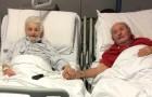 Os dois cônjuges de 90 anos se recuperaram do Covid: a foto de mãos dadas no hospital é um símbolo de amor e esperança