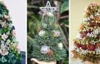 10 compositions de plantes grasses en forme d'arbre de Noël