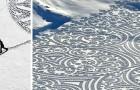 Dieser Mann geht im Schnee und schafft gigantische Zeichnungen, die durch ihre ephemere Schönheit verzaubern