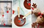10 adorabili lavoretti natalizi per confezionare simpatiche renne riciclando in modo creativo