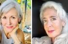 15 Frauen, die sich entschieden haben, das Färben wegzulassen, indem sie den Charme ihrer weißen Haare zeigen