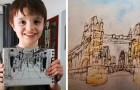 Questo bambino autistico riesce a disegnare la mappa di una città dopo averla vista una sola volta