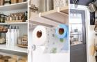 18 astuces géniales pour obtenir de l'espace et l'organiser au mieux en cuisine