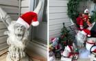 """Sie bittet die Nachbarn darum, ihre Statue zu entfernen, weil sie """"wenig festlich"""" ist: Sie überschütten sie mit Weihnachstdekorationen"""