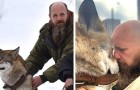 Quest'uomo ha salvato un lupo da un triste destino: ora è il suo magnifico compagno di vita
