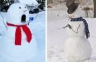 17 originelle und kreative Schneemänner, die ihrer Nachbarschaft einen Hauch von Magie verliehen haben