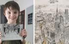 Cet enfant autiste peut dessiner des paysages urbains détaillés, même s'il ne les a vus qu'une seule fois